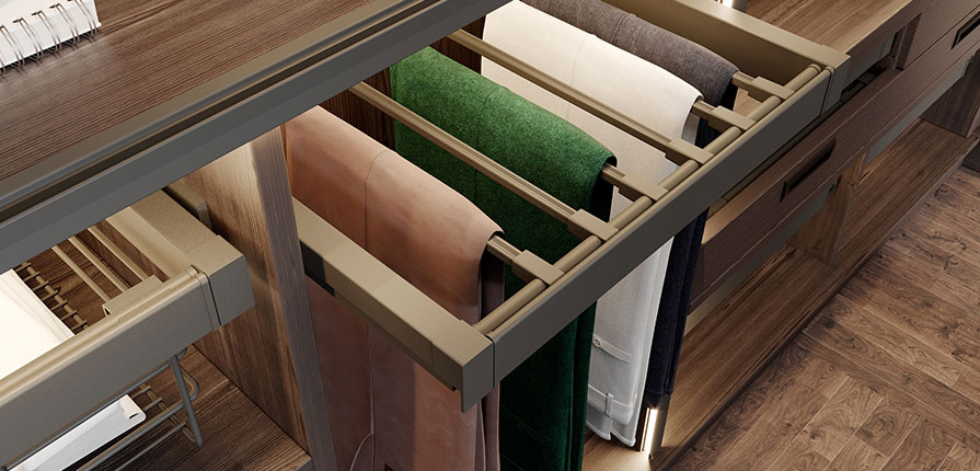 Wardrobe trouser rack