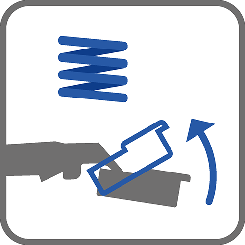 Mechanizm : sprężyna dociągająca