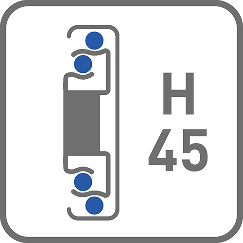 Prowadnica : kulkowa H45