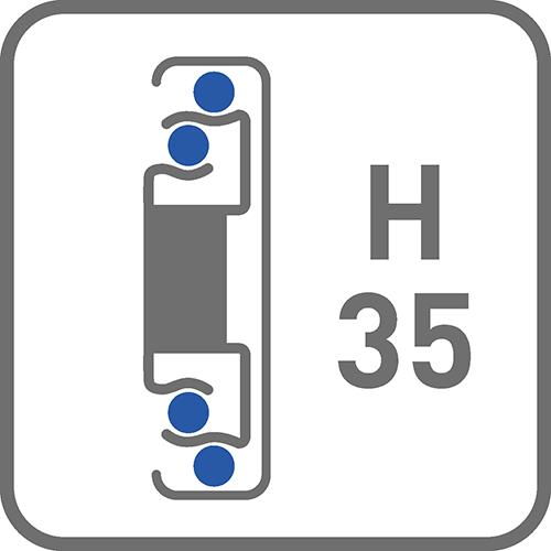 Prowadnica : kulkowa H35