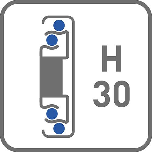 Prowadnica : kulkowa H30