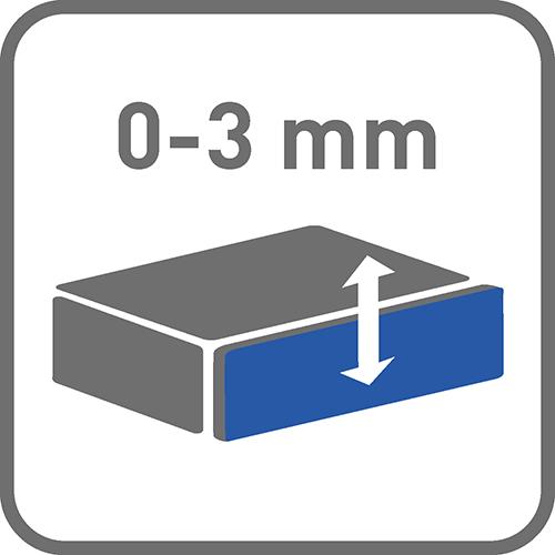 Regulacja pionowa [mm]: 0-3
