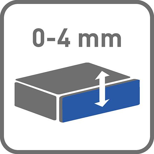 Regulacja pionowa [mm]: 0-4