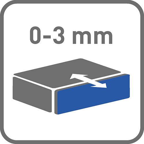 Regulacja głębokości [mm]: 0-3