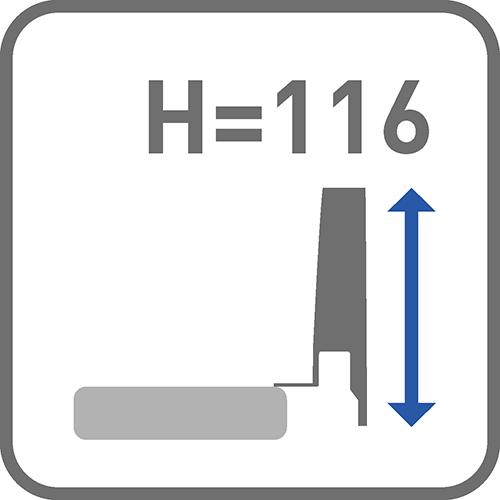 Wysokość boku [mm]: 116