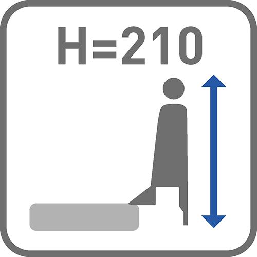 Wysokość boku z relingiem [mm]: 210