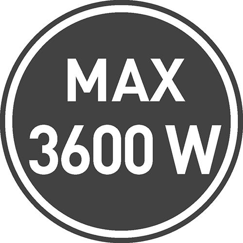 Maksymalne dopuszczalne obciążenie [W]: 3600