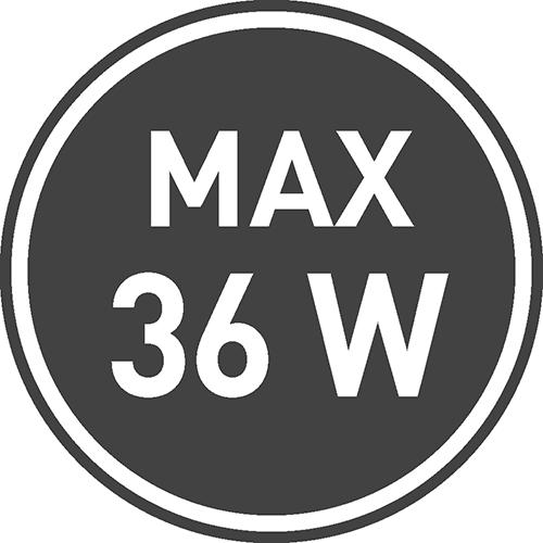 Maksymalne dopuszczalne obciążenie [W]: 36