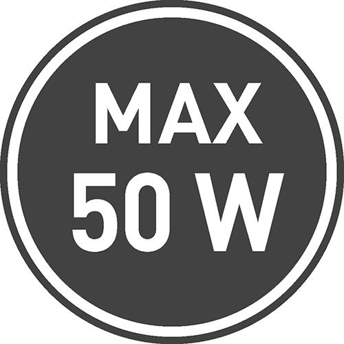 Maksymalne dopuszczalne obciążenie [W]: 50