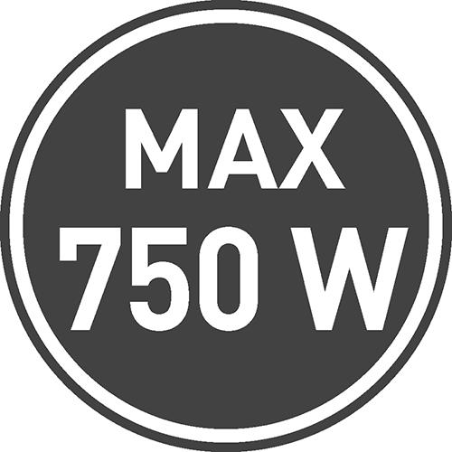 Maksymalne dopuszczalne obciążenie [W]: 750