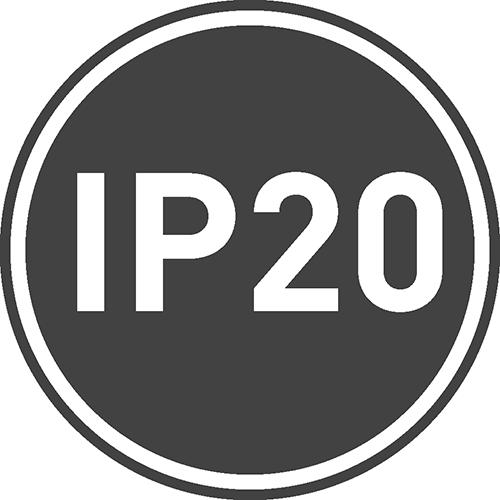 Stopień ochrony IP: 20