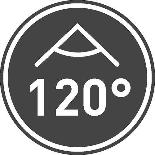 Kąt świecenia [⁰]: 120