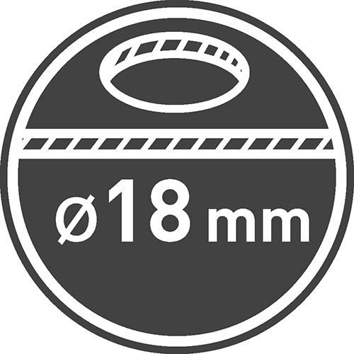 Średnica otworu montażowego [mm]: 18