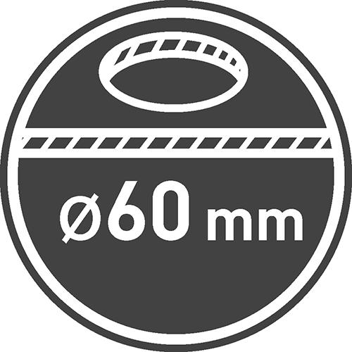 Średnica otworu montażowego [mm]: 60