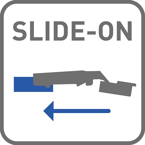 Sposób montażu: slide-on