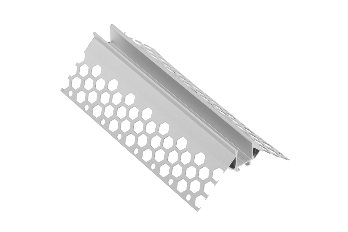 Profil LED GLAX kątowy, zewnętrzny do płyt GK - 1