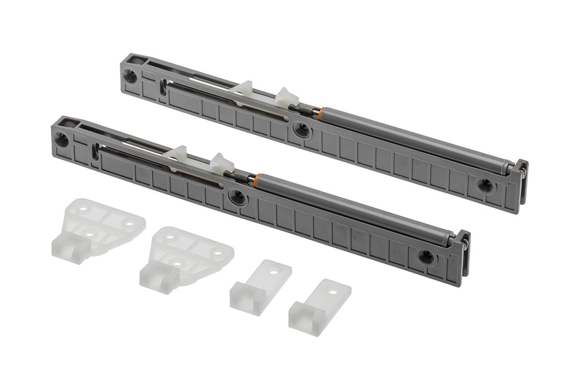 Spowalniacz do prowadnic rolkowych oraz szuflad typu Metalbox 350-550 mm