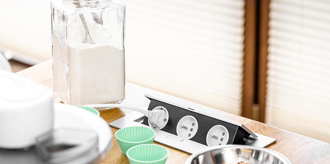 przedluzacz biurkowy wpuszczany prostokatny AE PBC3GU 53 kuchnia 2