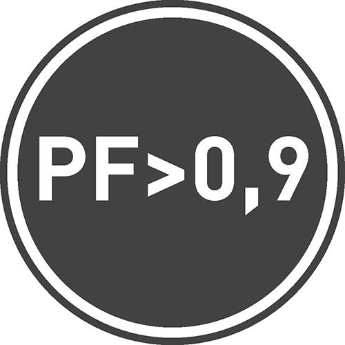 Коэфф. мощности PF: >0,9