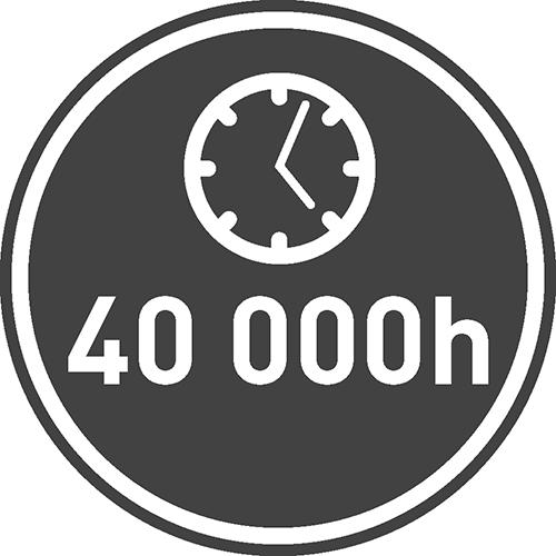Средний срок службы [ч]: 40000