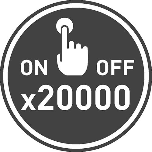 Число циклов вкл/выкл: 20000