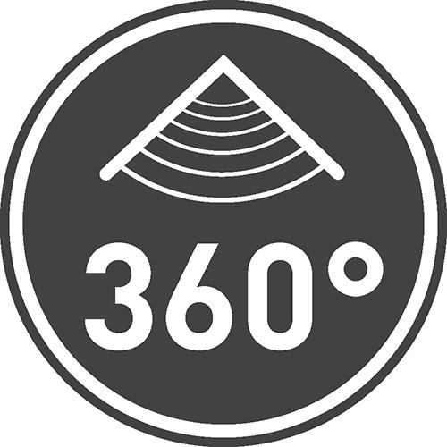 Maksymalny horyzontalny kąt działania czujnika [⁰]: 360