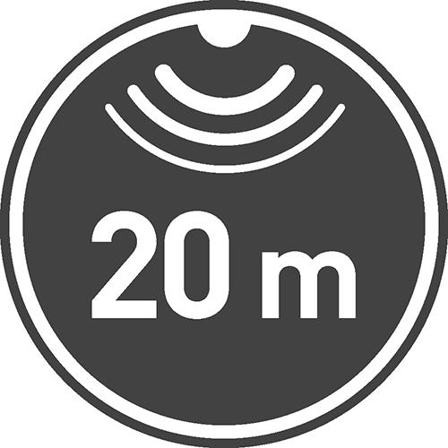 Maksymalny zasięg wykrywania ruchu [m]: 20