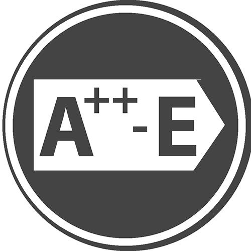 Klasa energetyczna: A++, E