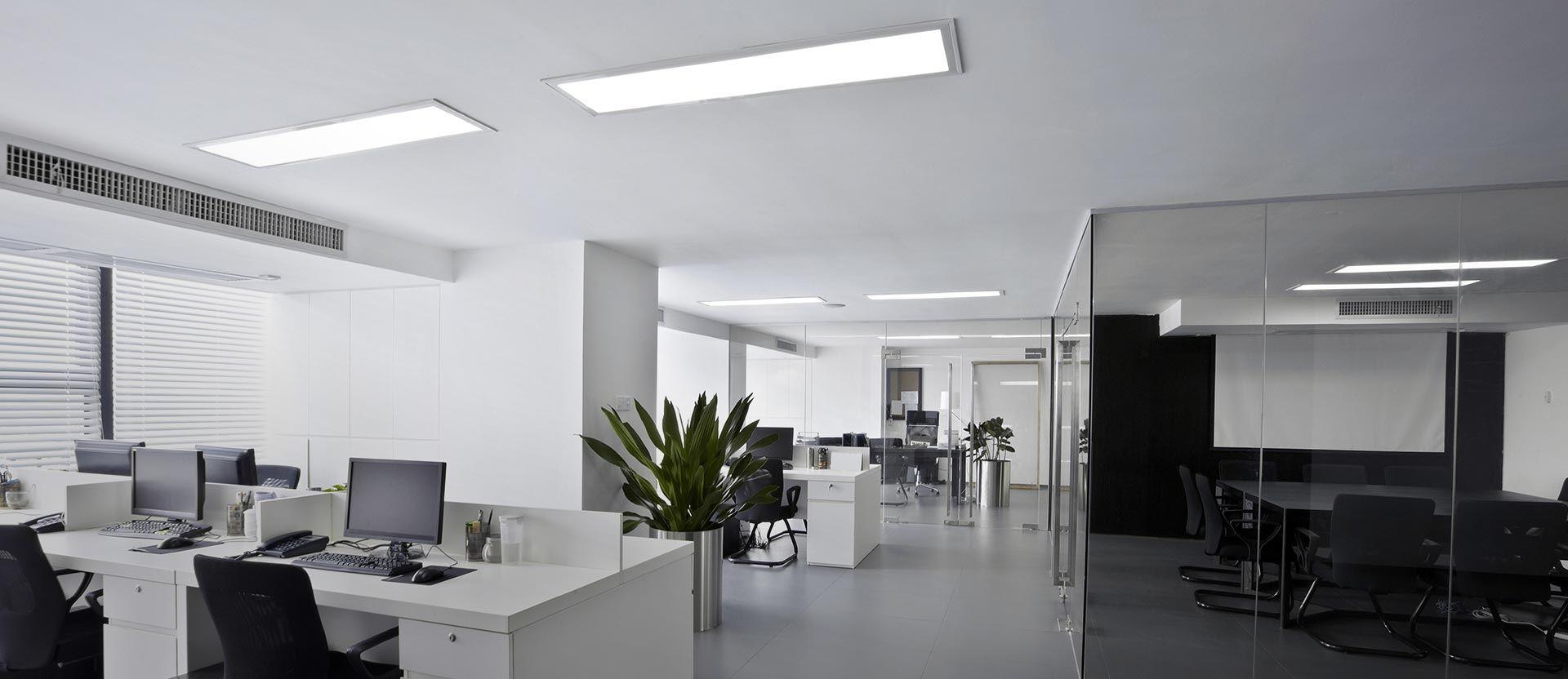 Funkcjonalne  oświetlenie biurowe