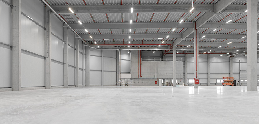A safe workplace with energy-efficient LED fixtures